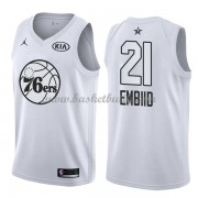 Philadelphia 76ers Joel Embiid 21# Vit 2018 All Star Game NBA Basketlinne..